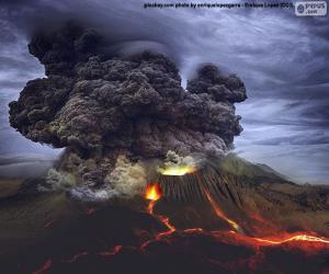 Volcanic eruption puzzle