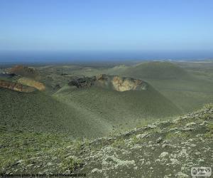 Volcanic landscape, Lanzarote puzzle