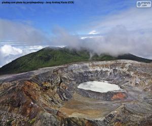 Volcano Poás, Costa Rica puzzle