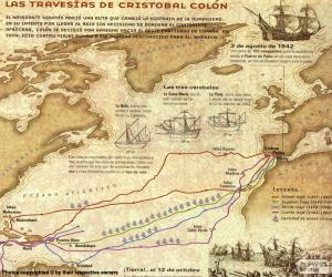 Voyages of Christopher Columbus puzzle