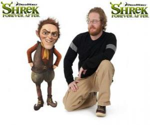 Walt Dohm provides the voice of Rumpelstiltskin, in the latest film Shrek Forever After puzzle