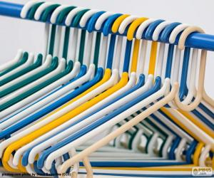 Wardrobe hangers puzzle