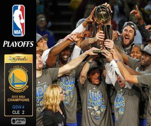 Warriors, NBA 2015 champions puzzle