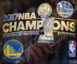 Warriors, NBA 2017 champions puzzle