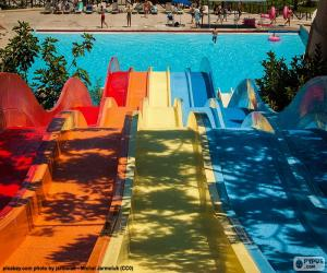 Water slide, Water park puzzle