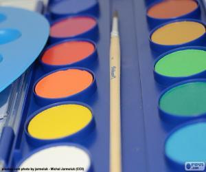 Watercolors case puzzle