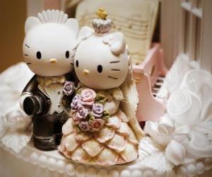 Wedding Dolls Hello Kitty and Dear Daniel puzzle