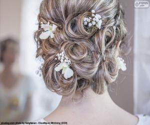 Wedding hairstyle puzzle