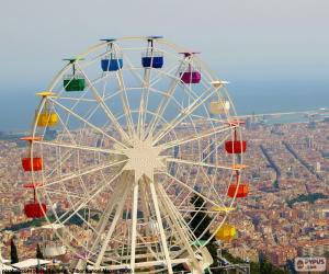 Wheel of the Tibidabo, Barcelona puzzle
