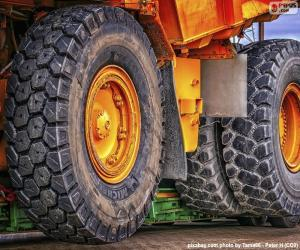 Wheels a large dump truck puzzle