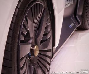 Wheels sport car puzzle