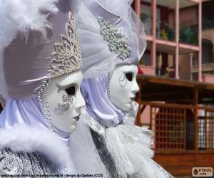 White masks puzzle