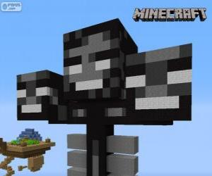 Whither, a boss creature in Minecraft puzzle