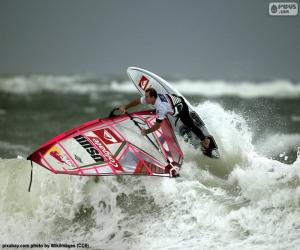 Windsurfing wave puzzle