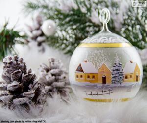 Winter village ball puzzle