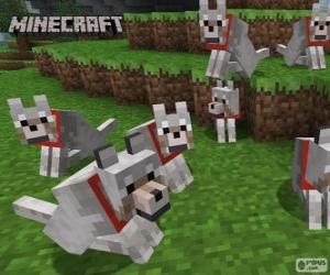 Wolves of Minecraft puzzle