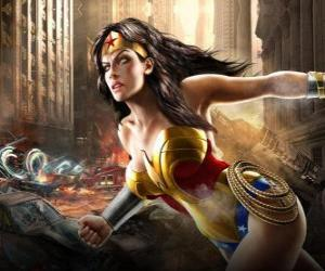 Wonder Woman is an immortal superheroine with powers similar to Superman puzzle