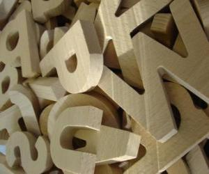 Wooden letters puzzle