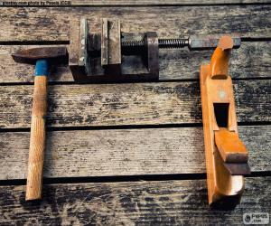 Woodworking tools puzzle