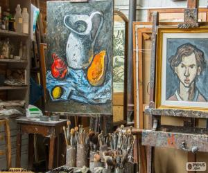 Workshop artist painter puzzle