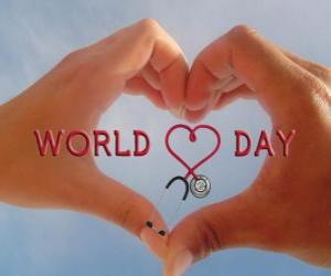 World Heart Day, the last Sunday of September activities are organized to improve health and reduce risks puzzle