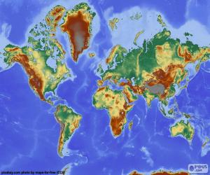 World Relief Map puzzle