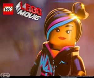 Wyldstyle, a free spirit of the Lego movie puzzle