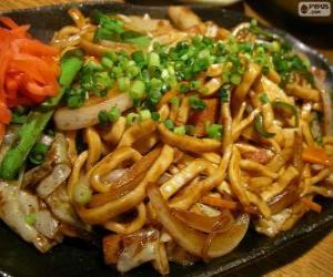 Yakisoba, Japanese food puzzle