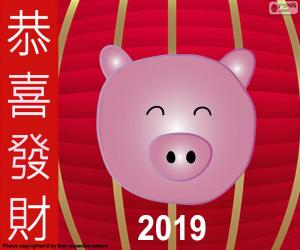 Year of the pig 2019 puzzle