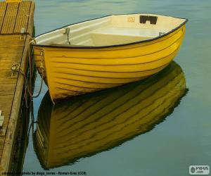 Yellow boat puzzle