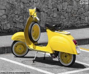 Yellow Vespa puzzle