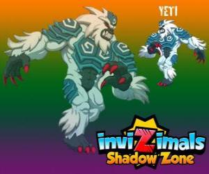Yeti. Invizimals Shadow Zone. The powerful yetis live hidden in the highest peaks of the Himalayas puzzle