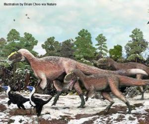 Yutyrannus with nearly 9 meters in length is the largest dinosaur with feathers known puzzle