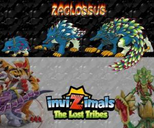 Zaglossus, latest evolution. Invizimals The Lost Tribes. Invizimal resembles a porcupine puzzle