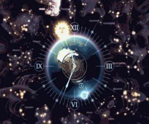 Zodiac clock puzzle