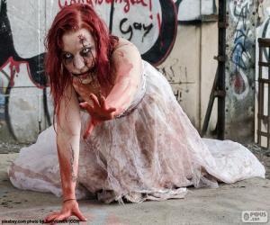 Zombie, Halloween puzzle