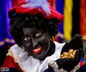 Zwarte Piet, Black Pete, the assistant of Saint Nicholas in the Netherlands and Belgium puzzle