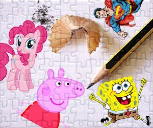 Cartoon characters puzzles