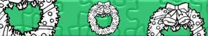 puzzles Christmas wreaths and garlands