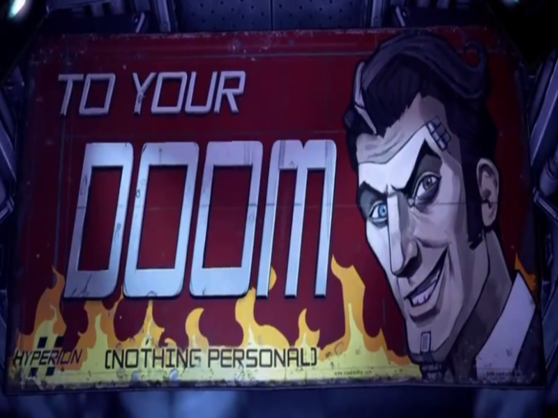 Borderlands 2 Handsome Jack To Your Doom Nothing Personally  puzzle