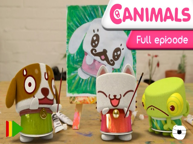 Canimals: Paint Cans puzzle for kids puzzle