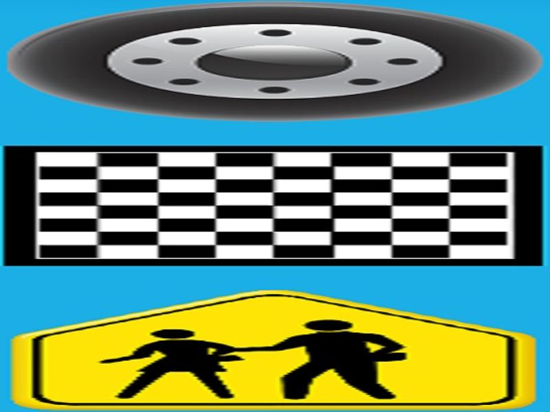 tire chess traffic sign puzzle