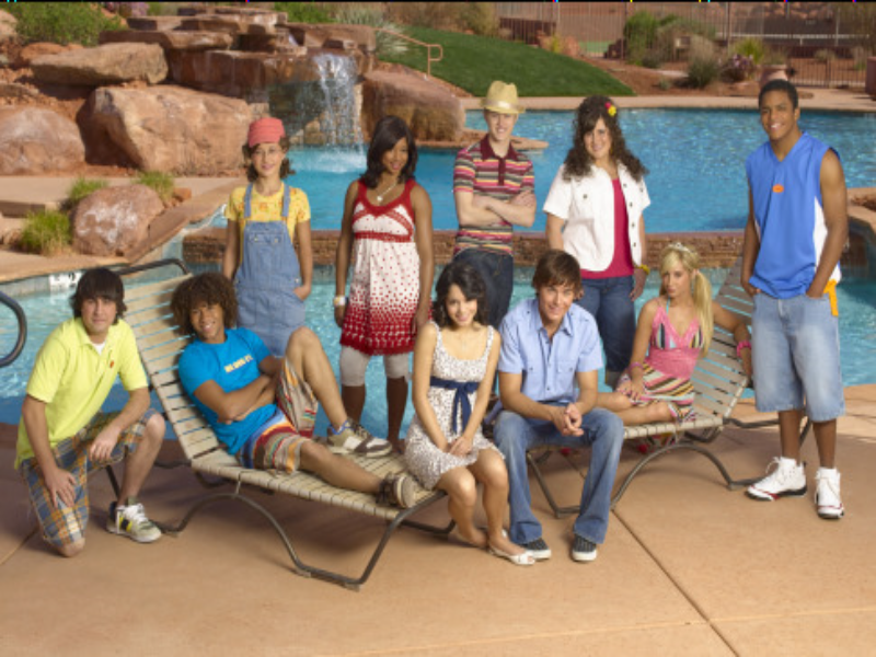high school musical 2 all the cast  puzzle