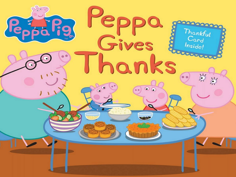 Peppa Pig Thanksgiving puzzle
