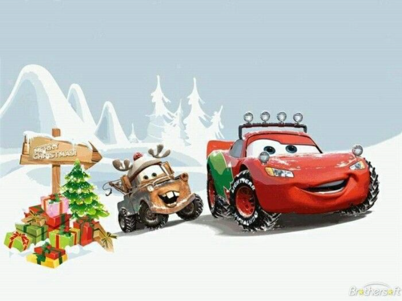 Cars Christmas puzzle
