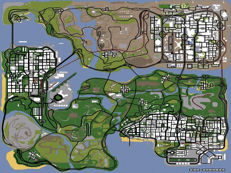 Как сделать карту в сан андреас 943